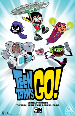 Cool! The poster art I did for Teen Titans Go was just released over on Nerdist.com (some of you may remember an earlier version here). If you're at WonderCon this weekend, you can score a copy signed by the crew. Looking forward to checking out the show premiere  April 23rd.