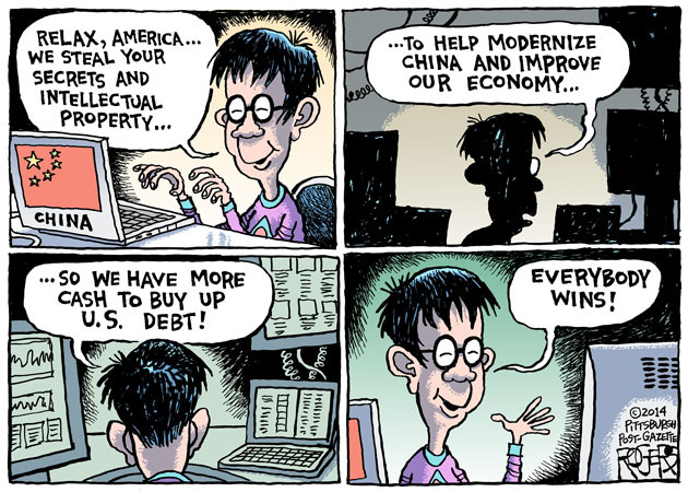Rob Rogers: Chinese Hack