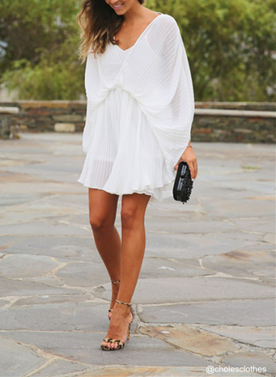 choiesclothes:  »White Romper Bright Butterfly Playsuit