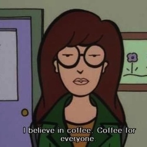 shmophia20:  Daria gets me #daria #MTV #90s #Daria #cartoon #coffee