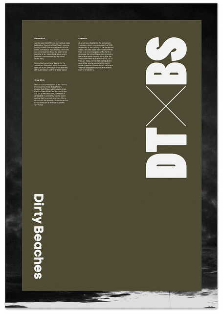 Dirty Beaches Poster on Flickr.
