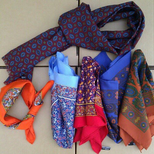 Macclesfield silk squares and wool challis scarves from Tweed Country Sports.