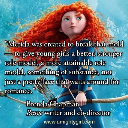 "Thanks to ""Brave"" writer and co-directer Brenda Chapman for speaking out on the Merida makeover! In a statement yesterday to the Independent Journal, Chapman wrote: ""There is an irresponsibility to this decision that is appalling for women and young girls. Disney marketing and the powers that be that allow them to do such things should be ashamed of themselves.""""I think it's atrocious what they have done to Merida. When little girls say they like it because it's more sparkly, that's all fine and good but, subconsciously, they are soaking in the sexy 'come hither' look and the skinny aspect of the new version. It's horrible! Merida was created to break that mold — to give young girls a better, stronger role model, a more attainable role model, something of substance, not just a pretty face that waits around for romance.""""They have been handed an opportunity on a silver platter to give their consumers something of more substance and quality — THAT WILL STILL SELL — and they have a total disregard for it in the name of their narrow minded view of what will make money. I forget that Disney's goal is to make money without concern for integrity. Silly me.""To read the full article, visithttp://tinyurl.com/cb658toWe've now reached over 100,000 signers on our petition to Disney! Let's keep the momentum going! Please sign and share ""Say No to the Merida Makeover and Keep Our Hero Brave!"" petition at https://www.change.org/keepmeridabrave"