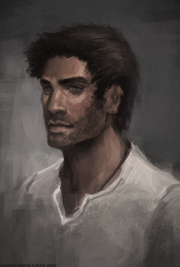 Nathan Drake from Uncharted portrait. :UThe last time I did a portrait of this man was last may :/ I should practice more, because he is very hard to paint.