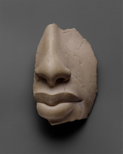 dormantgenius:  hnknta:   Nose and lips of Akhenaten - New Kingdom, Amarna Period, Dynasty 18, ca. 1353–1336 B.C. Indurated limestone  u already kno dis nigga was sexy  ^^^