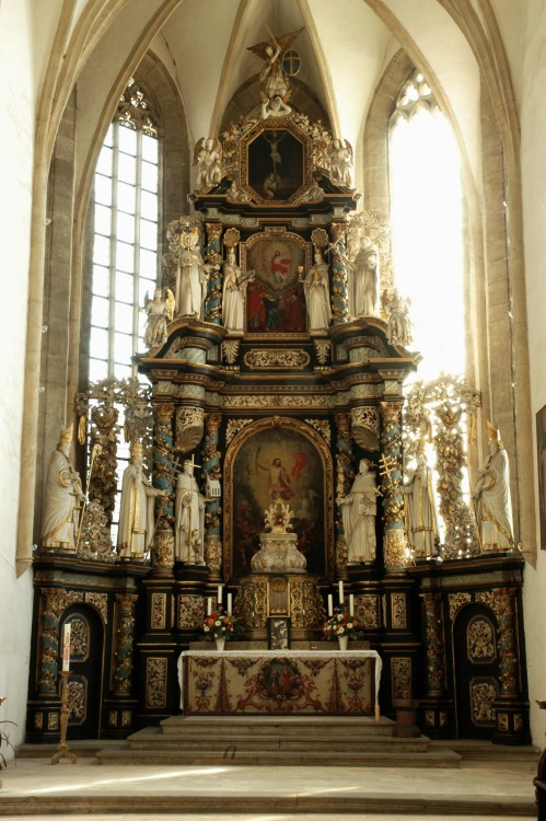 High Altar of the Monastery Church of Saints Catherine and Barbara, Halberstadt, Sachsen-Anhalt, Germany