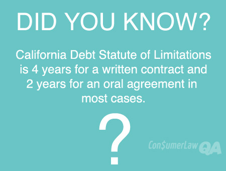 California Debt Statute of Limitations