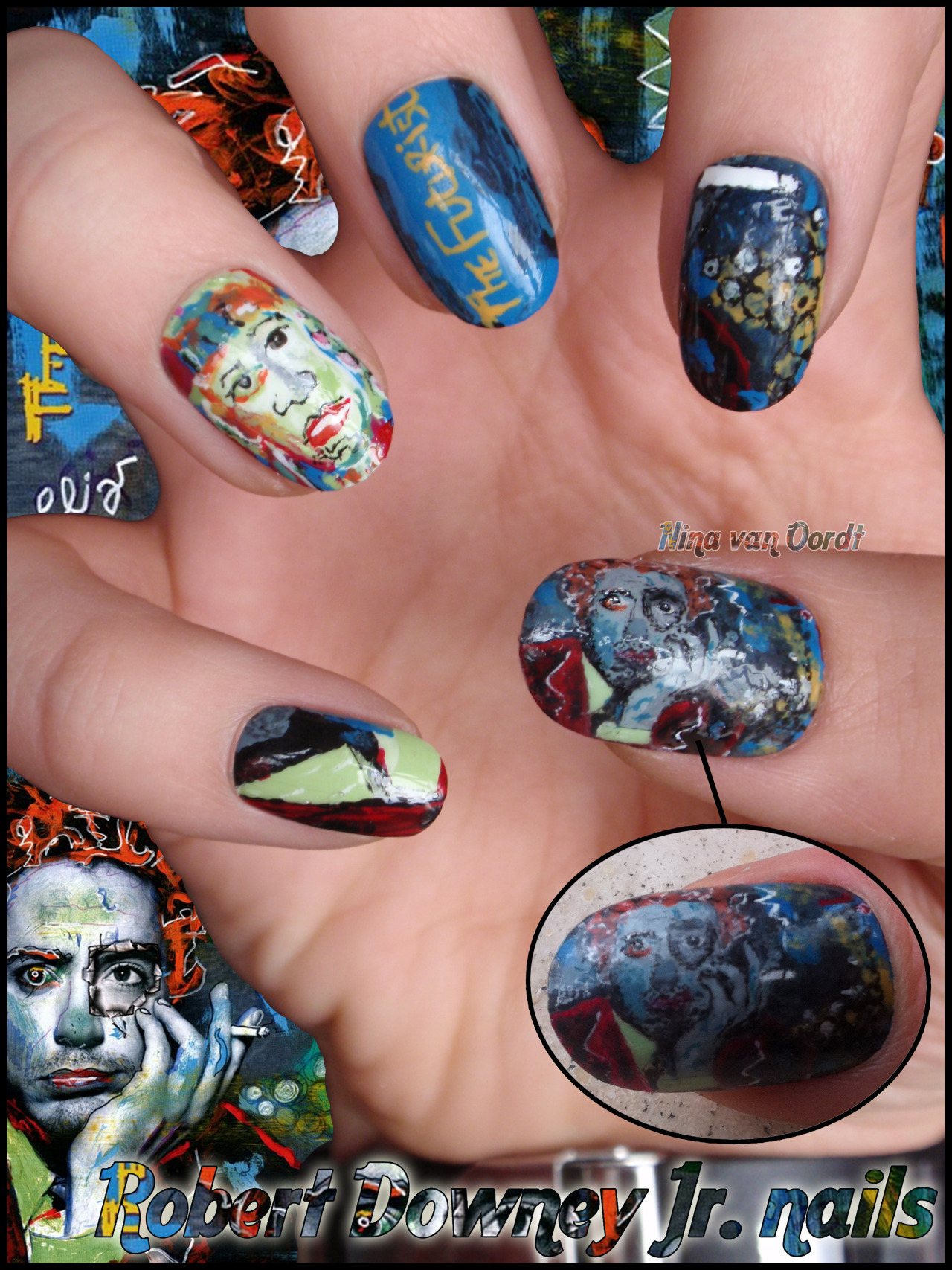 My RDJ nails (The Futurist)