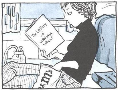 Alison Bechdel reads, a self-portrait.