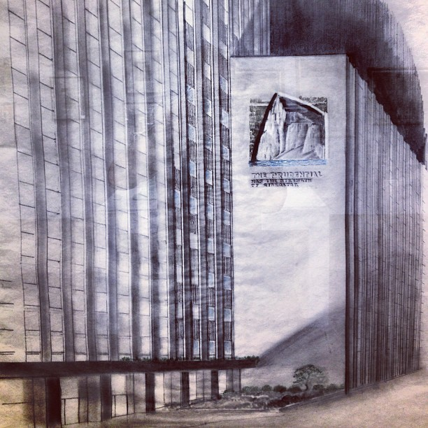 Ianelli Prudential Building rendering. #chicago #chigram #archigram #architecture #art #sculpture #modernism #prudential