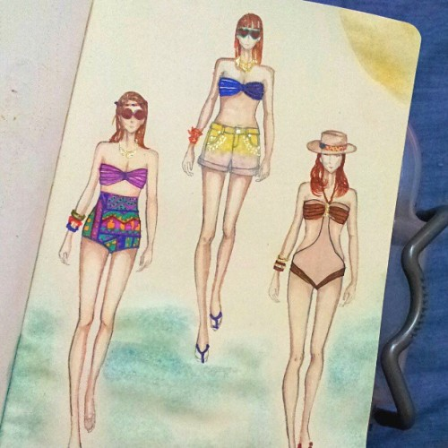 #summer  #swimwear #swimsuit #fashion  #fashionary #fashiondrawing  #fashionillustration  #fashiondesign #sketchbook  #sketch #drawing #beautiful #cute #instafashion #instaartist #instaart #artists_community #artoftheday #art #beach #girl #illustration