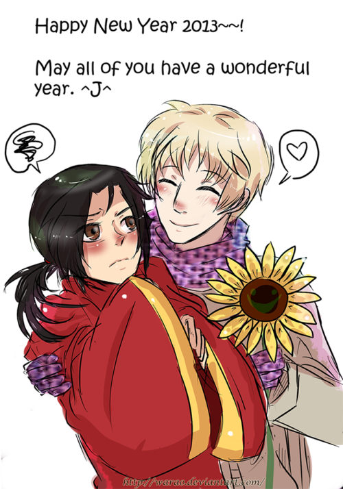 mistressofhetalia:  Happy New Year 2013 by ~Warao