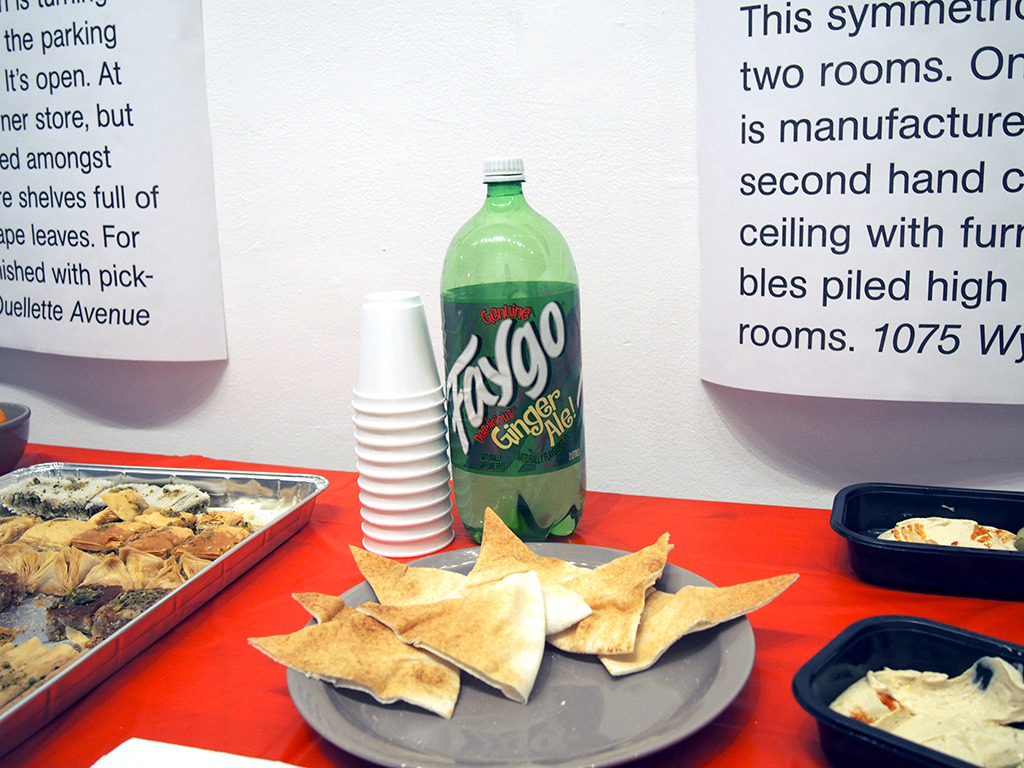 Snacks from the opening of Spirit of Windsor last week. (Faygo, with both English and French on the label, hummus, baklava and oranges, all from businesses included in the guide.)