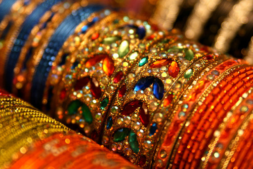 bangles of India by Rhana Yoon on Flickr.