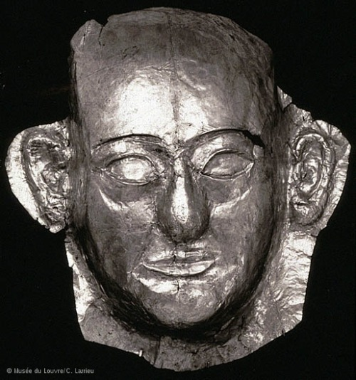 centuriespast:  Mortuary Mask of Khaemwaset New Kingdom, Nineteenth Dynasty, reign of Ramesses II, 1279-1213 BC Saqqara, Serapeum The Louvre