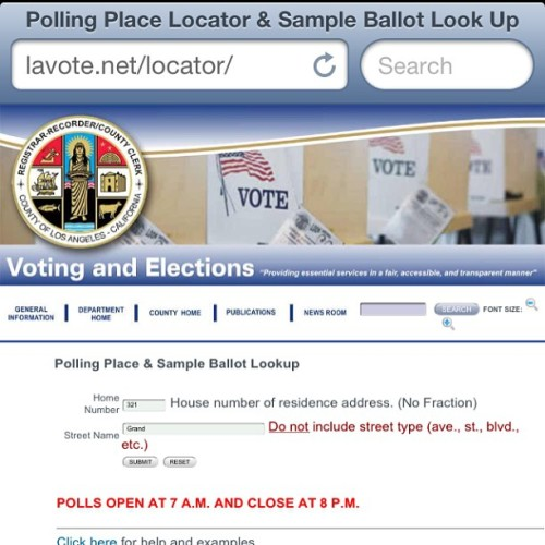 Don't know where to #VOTE? Check out the website LAVOTE.NET/LOCATOR for the closest voting poll to you! #SUPPORT the #MMJPATIENTS of #LACOUNTY today by #VOTING #YESonF and #NOonD! #WEBUDYOU #thepersonalstash #ibudyou #iby