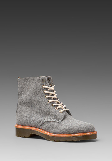 DR. MARTENS Beckett 8-Tie Boot in Grey | #Wantering Good God, iWant!