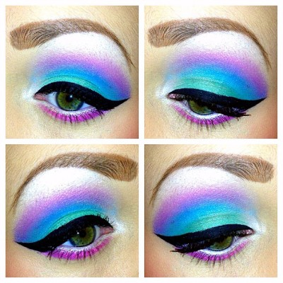 🍬#eyeshadow #makeup #colorful #eyes