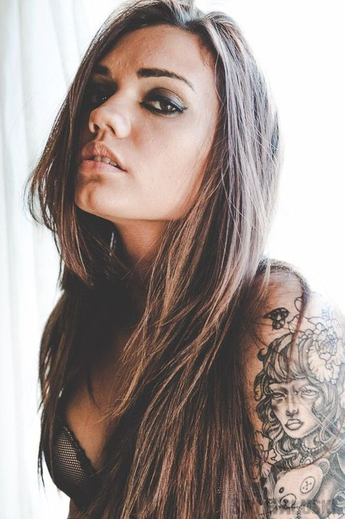 1nkedandsexy:  Model ;Alexandra Elise Tattoo Artist: Nicholas Davis at Creative Minds