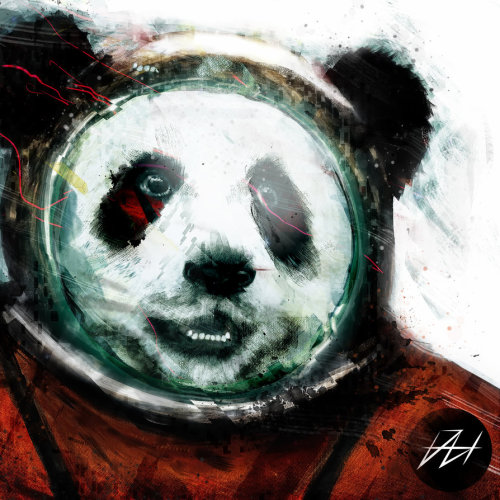 Pandanaut by Daniel Hannih (Artist on tumblr)