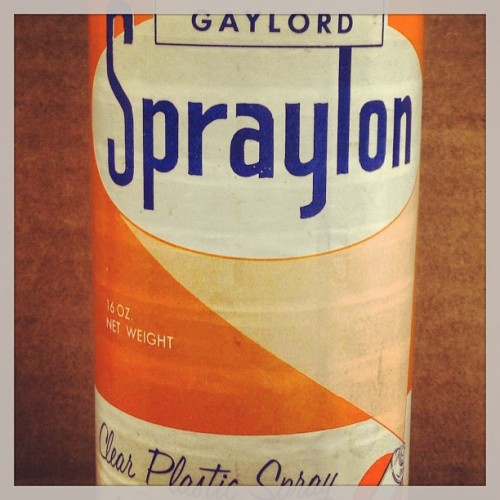 jasondcooper:  Clear plastic spray? Yes, it's a day for strange throwbacks in the #library