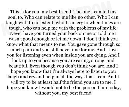keepcalmandbitchoff:  Dear Best friend on We Heart It. http://weheartit.com/entry/48463390