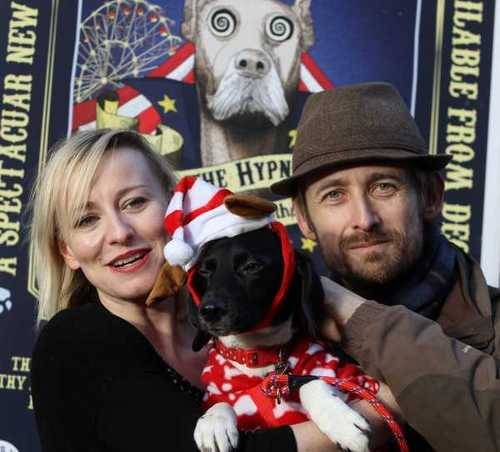 Dogs and musicians: Neil Hannon and Cathy Davey launching the album Oscar The Hypno Dog in aid of Dogs in Distress outside HMV on Grafton Street