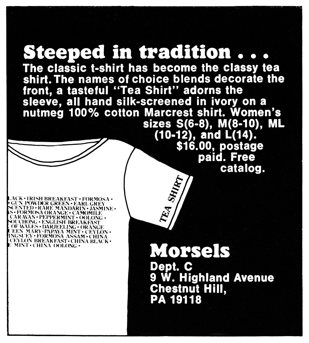 Morsels Advertisement - Gourmet: January 1979