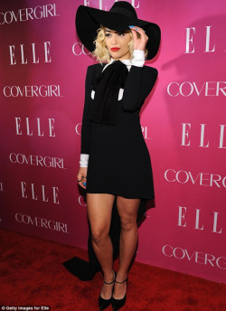 Rita Ora wears Saint Laurent  from collection spring 2013