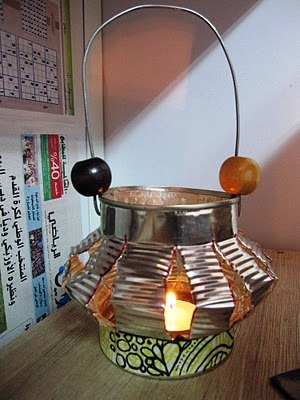 make a cute lumiary for your outdoors bbqs this summer