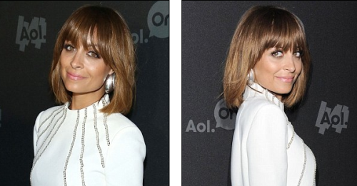 LOVE this full-fringed bob that Nicole Richie debuted on the red carpet at the AOL 2013 Digital Content NewFront on Tuesday.  See more pictures here.