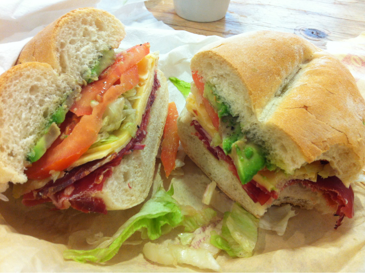 A made-to-order, piece of art, of a sandwich from one of Camden's shadiest! This Portuguese deli/store is fantastic and worth a go…with or without a hit of meth.