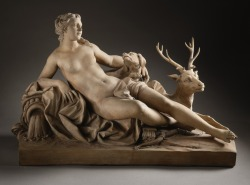~ Jean-Baptiste Tuby Diana with a Stag and a Dog, 1687