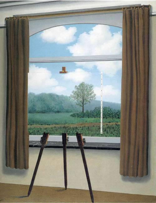 art-library:  Rene Magritte, The human condition, 1933.