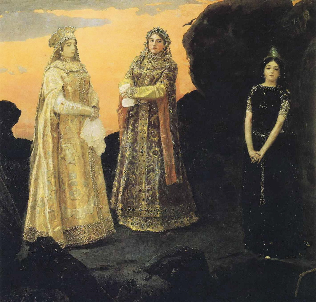 masterofthemountain:  Viktor Vasnetsov - Three Tsarevnas of the Underground Kingdom, 1879