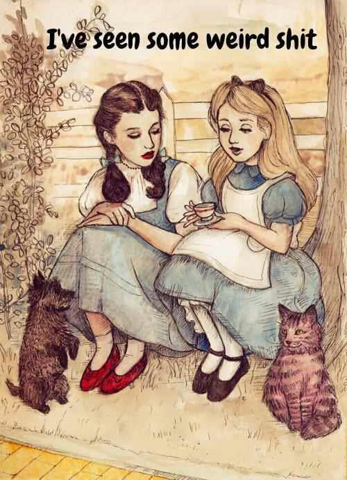 retrogasm:  Dorothy and Alice