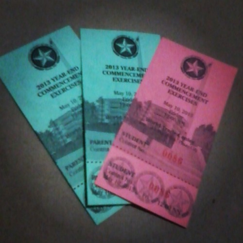Finally. This is it! :D #graduation #passes #05102013