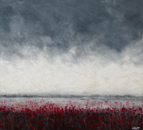 artisticmoods:  Field of Red. By Simon Fairless, UK.  Find ArtisticMoods on Facebook & Twitter.