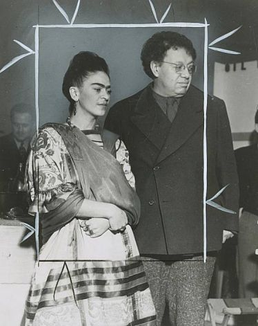 mexicanfoodporn:  Frida Kahlo and Diego Rivera 1941 Photo: File Photo, Chronicle File Photo