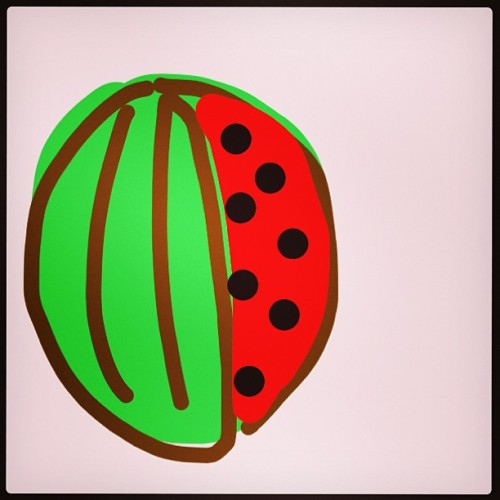 #DrawSomething My #watermelon 🍉 #amazingartskills (at Bryn)