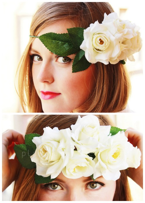 crankycrafter:  DIY Floral Crown. Perfect for Coachella because everyone who's anyone must be there because that's all I'm reading about on all the blogs. What? You didn't get to go? I'm sorry. http://planb.annaevers.com/en/diy-corona-de-flores/  truebluemeandyou: Can't go to Coachella or all the music festivals all the bloggers are going to? You can still celebrate spring with this headband from Plan B Anna Evers. For pages more of headbands go here and for headpieces go here.