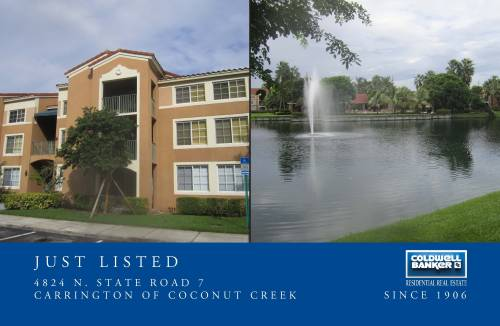 Thought You'd be Interested - Just Listed in Coconut Creek! For more information, please call me directly.
