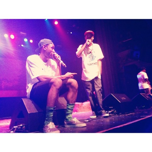 nnatatalie:  THEMOSTFUCKINGWILD #tylerthecreator #earlsweatshirt (at The Regency Ballroom)