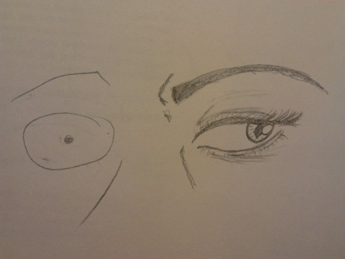 yo-otsai-the-dark:  Drawing the other eye.