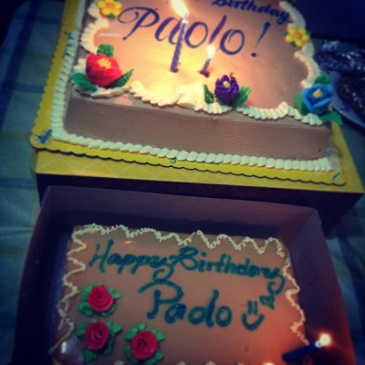 Paolo's birthday cakes!