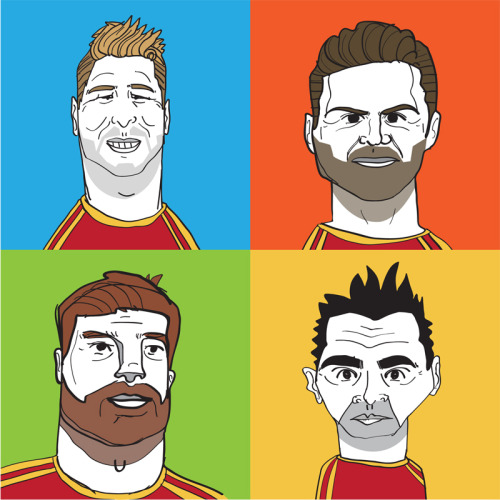 Thinking of making this available as a shirt entitled 'La Furia Roja'. Any takers?