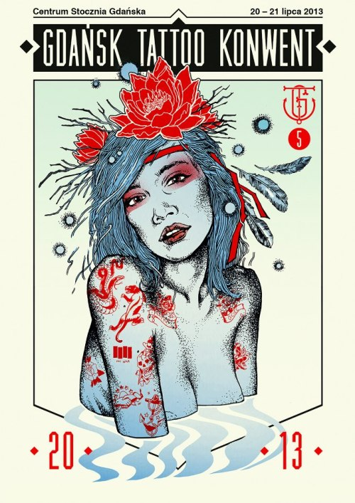 petit-poids:  Poster for tattoo convention in Gdansk (Poland) done by Maciek Wolański: www.maciekwolanski.com