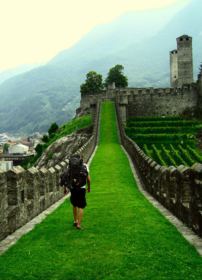 visitheworld:  Exploring the castles of Bellinzona, Switzerland (by jonny).