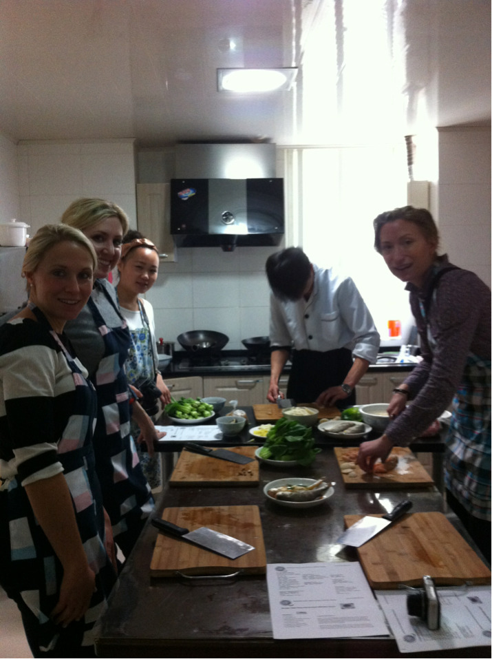 Starting the week with cooking classes…..fish, kung pow chicken, bok choi and pork dumplings. #shanghaigirlstrip #day1