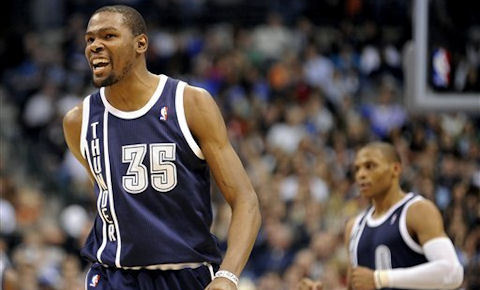 Kevin Durant dropped a career high 52 points in a 117-114 overtime win over the Mavericks.